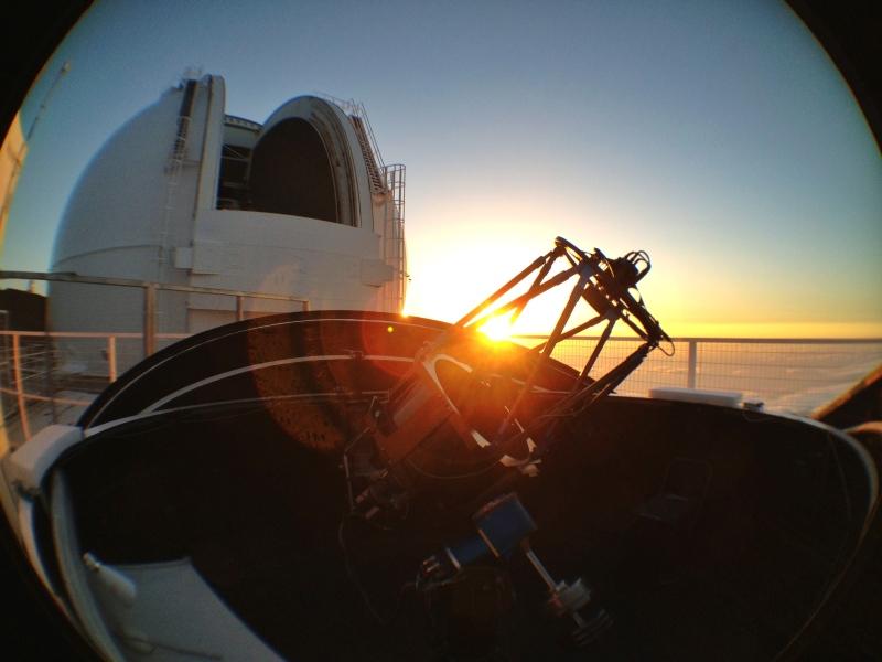 The pt5m telescope on La Palma. Credit pt5m/Vik Dhillon