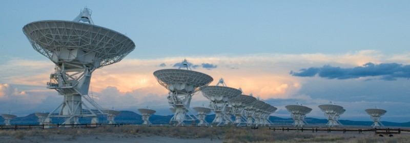 The VLA Telescope. Credit NRAO.