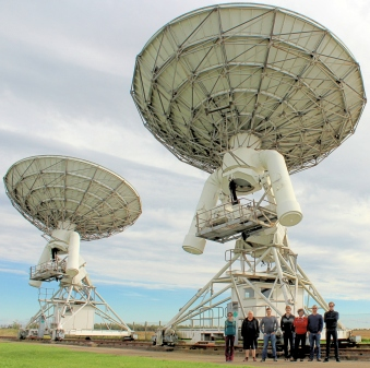 Members of the 4 PI SKY team visiting the AMI teelscope